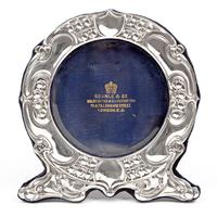 Art Nouveau Style Goldsmiths & Silversmiths Circular Silver Frame (2 of 5)