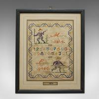 Antique Framed Sampler, English, Cross-Stitch, Apprentice, Victorian, Dated 1896 (4 of 10)