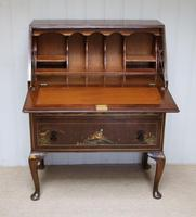 Walnut Chinoiserie Bureau (4 of 10)