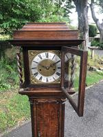 Small Georgian Oak Weight Drive Granddaughter Clock (12 of 12)