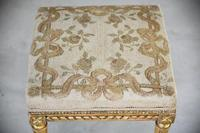 Square French Style Gilt Stool (7 of 7)