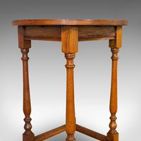 Antique Circular Occasional Table, English, Oak, Side, Lamp, Edwardian, C.1910 (6 of 12)