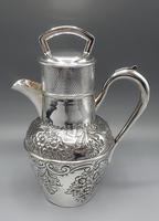 Antique Scottish Silver Plated Claret/Mulled Wine Jug - Patented Filter Lid (4 of 8)