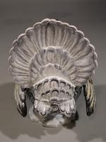Very Large, Early 20th Century, Faience Pottery Male Turkey (6 of 6)
