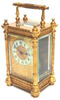 Fine Antique French 8-day Fleur De Lis Decorated Panel 8-day Carriage Clock Timepiece c.1890 (10 of 10)
