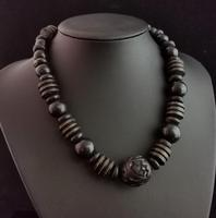 Victorian Bog Oak & Wood Bead Necklace (7 of 10)