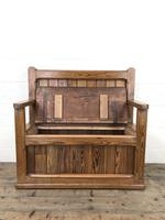 Rustic Pitch Pine Settle Bench (6 of 9)