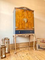 Vintage Burr Walnut Louis XV Style Drinks Cabinet (12 of 12)