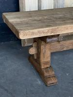 Superb Rustic Large Bleached Oak Farmhouse Table with Extensions (20 of 36)