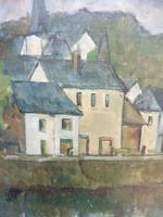 Oil on Canvas Laid on Board by the River Loire Listed Artist John Denahy (3 of 10)