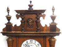 Gustav Becker Antique Walnut & Ebonised 8-day Twin Weight Striking Vienna Regulator Wall Clock (7 of 14)