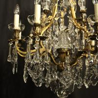 French Gilded Bronze 11 Light Antique Chandelier (4 of 10)