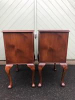 Pair of Antique Burr Walnut Bedside Chests (8 of 9)