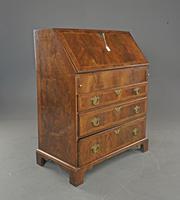 Antique Rare Small Georgian Walnut Bureau (4 of 10)