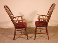 Near Pair of English Windsor Armchairs - 19th Century (2 of 11)