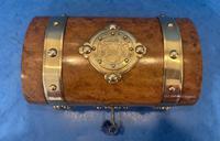 Victorian Brassbound Burr Walnut Stationary Box (7 of 11)