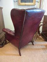 Antique Leather Chesterfield Wing Armchair (3 of 7)