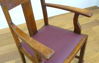 Attractive Arts & Crafts Oak Library Chair (9 of 14)