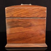 Antique Victorian walnut jewellery box, fitted (5 of 9)