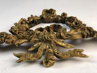 Antique French Ormolu Gilt Bronze Pediment Architectural Salvage (8 of 11)