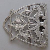 Edwardian 1901 Hallmarked Solid Silver Nurses Belt Buckle Charles W Comyns (2 of 7)