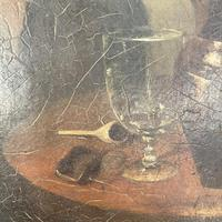 Antique Victorian Oil Painting Portrait of Man with Hat in Inn Pub Ale House (6 of 10)