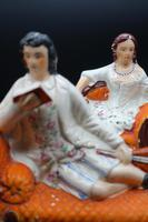 Unusual Pair of Mid 19th Century Staffordshire Reclining Figures (3 of 5)