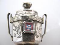 Amazing Stone Set Danish Silver Hovedvansaeg c.1819 (2 of 10)