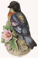 A Porcelain figure of a Paula Warbler by Andrea by Sadek. (3 of 6)