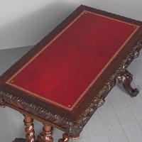 Antique Oak Flemish Writing Table (2 of 15)