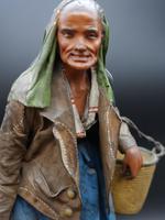 Attractive Mid 19th Century Papier-mâché Crib Figure of Elderly Lady (5 of 5)