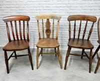 Interesting Harlequin Set of 6 Windsor Kitchen Chairs (5 of 6)