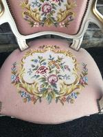 Antique French Polychrome Painted Desk Chair (3 of 8)