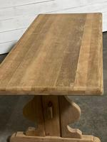 French Oak Trestle Farmhouse Dining Table (4 of 14)