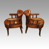 Pair of Victorian leather desk chairs (3 of 7)