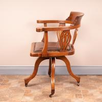 Oak Revolving Office Desk Chair (8 of 10)