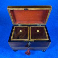Regency Rosewood Twin Section Tea Caddy (7 of 12)