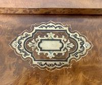 Antique Amboyna Mother of Pearl Inlaid Writing Slope Lap Box (17 of 19)