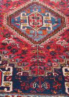 Vintage Persian Handmade Rug with a Vibrant Red & Blue Ground (8 of 8)