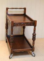 Carved Oak Trolley (4 of 10)