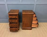 Victorian Pair of Burr Walnut Bedside Chests (6 of 14)