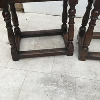 Pair of Oak Coffin Stools Circa Late 17th Century (21 of 24)
