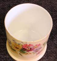 Antique Royal Worcester Blush Ivory Lidded Jar (6 of 8)