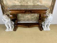 19th Century Burr Walnut Console Table (3 of 8)