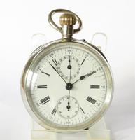 Antique Didisheim Silver Chronograph Pocket Watch c 1900 (2 of 5)