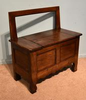 Mid 19th Century French Chestnut Bench (5 of 7)