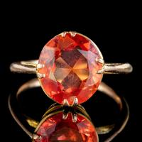 Antique Victorian 4.5ct Mexican Fire Opal Ring 9ct Gold Circa 1900 (2 of 6)
