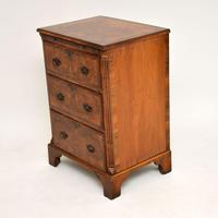 Antique Burr Walnut Bachelors Chest of Drawers (2 of 9)