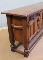 Antique Oak Sideboard Dresser Base Server (6 of 11)