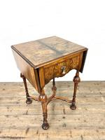 19th Century Walnut Drop Leaf Side Table (2 of 11)
